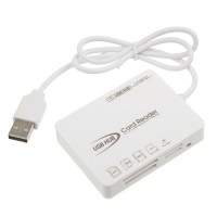 Portable 3 Ports USB HUBS & SD/MS/M2/TF Card Reader
