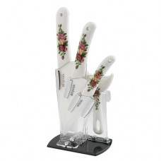 Bestlead Eco-friendly Ceramic Knives Set with Peony Patterns High Quality Noble Good-looking