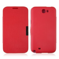 Back Plastic Case With Front Leather Cover for SS Galaxy NoteII N7100