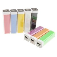 2600mAh USB Power Bank External Battery Charger for Mobile Phones Many Colors