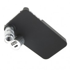 Mini 60X LED Microscope With Back Case for iPhone 4