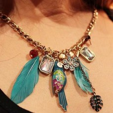 Fashion Rhinestone Oval Pendant Necklace Jewelry