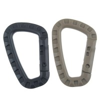 Outdoor Use Plastic Hook Carabiner