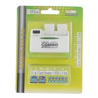 SY-H226 Combo 85 in 1 Card Reader+USB 2.0 Hub 180° Revolving Hub