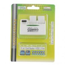 SY-H226 Combo 85 in 1 Card Reader+USB 2.0 Hub 180° Revolving Hub