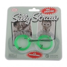 Novelty Toy Gift Gag Drinking Soft Silly Straw Eye Glasses