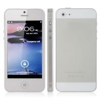 H5 TV Phone Quadl Band Dual SIM Card WiFi Bluetooth FM Dual Camera 4.0 Inch- White