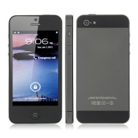 H5 TV Phone Quad Band Dual SIM Card WiFi Bluetooth FM Dual Camera 4.0 Inch- Black