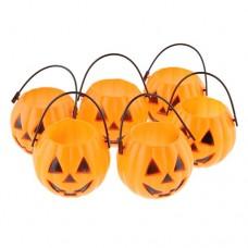 Cute Halloween Pumpkin Shape Pendant Plastic A Set Of Six