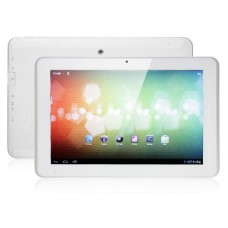 Ampe A10 Dual Core 3G GPS Tablet PC 10.1 Inch MSM8625 Android 4.0 IPS Screen 1G 4G (16G TF) Bluetooth White