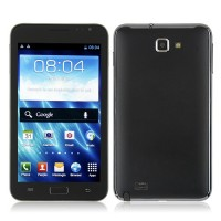 N7077 Smart Phone Android 4.0 MTK6577 Dual Core TV 3G GPS 5.2 Inch Screen- Black