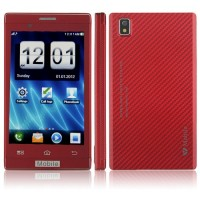 T8950 Phone 4.0 Inch Dual Band Dual Camera FM Bluetooth Touch Screen- Red