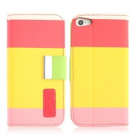 With Inner Plastic & Card Slots Leather Case Cover for iPhone 5