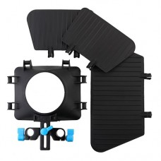 Digital Matte Box 15mm Rail Rod Support for DSLR Camera D90 60D 600D 5D