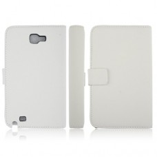 5.3 Inch Protective Leather Stand Case for Samsung Galaxy Note I9220 Smart Phone- White