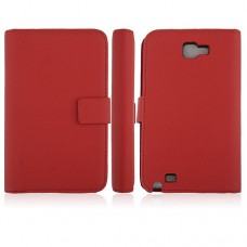 5.3 Inch Protective Leather Stand Case for Samsung Galaxy Note I9220 Smart Phone- Red