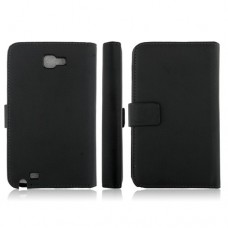 5.3 Inch Protective Leather Stand Case for Samsung Galaxy Note I9220 Smart Phone- Black