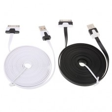 3m Flat Cable for iPhone 4/4S iPad White