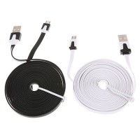 3m Micro USB To USB Wide Flat Cable