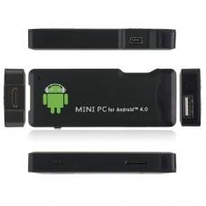OEM MK802 Mini Android PC Android TV Box Android 4.0 Tcc8920 HDMI TF 4GB/1G RAM- Black