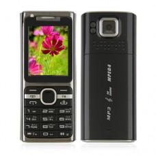 M17 Phone Dual Band Dual SIM Card Java Bluetooth FM 1.8 Inch- Black