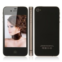 A4S Quad Band Phone 3.5 Inch Capacitive Touch Screen Single SIM Card WiFi 4GB- Black