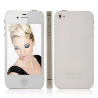 A4S Quad Band Phone 3.5 Inch Capacitive Touch Screen Single SIM Card WiFi 4GB- White