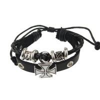 Double-layer Roman Cross Style Bracelet