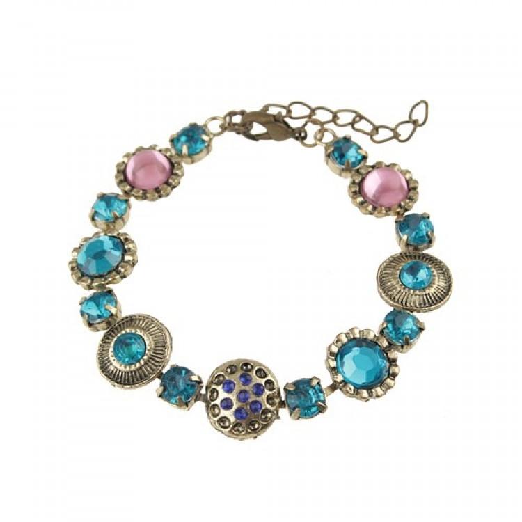 Style 123086 Diamontrigue Jewelry: Baroque Style Rhinestone Decor Bracelet Jewelry