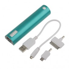Portable 2600mAh charger with LED power indicator