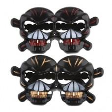 Halloween Terrorist Skeleton Head Glasses 2 Colors Selectable