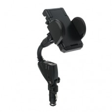 Flexible Car Charger Holder 1A/2A 2 USB Charging Port for iPhone Samsung Galaxy Note S3 S2