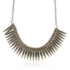 Punk Style Leaf Pendant Necklace Jewelry