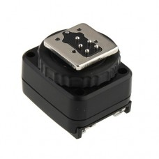 DF-8001 Flash Hot Shoe Converter to PC Sync Socket Adapte for Canon 7D 60D DSLR