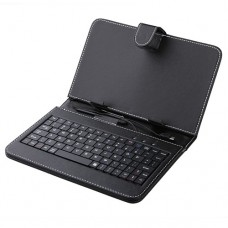 Black Leather Stand Case Micro USB Keyboard for 7.0 Inch Tablet PC