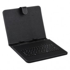 Black Leather Stand Case Mini USB Keyboard for 9.7 Inch Tablet PC