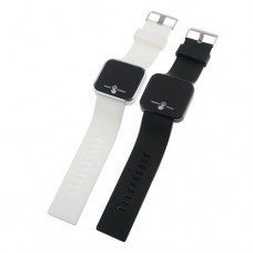LED Round Sport Style Touch Screen Watch Silicone Band
