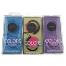 Colors Fashion 3.5mm Port Supra-aural Headphone Earphone