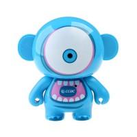Cute Cartoon Figure Mini Portable Speaker Blue