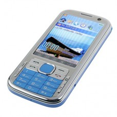 N100 TV Phone Dual Band Dual SIM Card Dual Camera Bluetooth FM 3.2 Inch Touch Screen- Blue