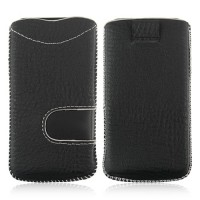 Protective Cloth Pouch for iPhone 4/4S Black