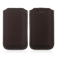 Pure Color Pouch for iPhone 4/4S Brown