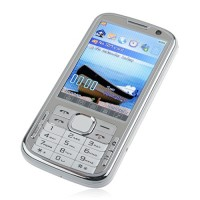 N100 TV Phone Dual Band Dual SIM Card Dual Camera Bluetooth FM 3.2 Inch Touch Screen- White