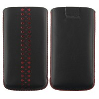 Red Diamond Pattern Pouch for iPhone 4/4S