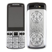 303 TV Phone Dual Band Dual SIM Card Bluetooth FM 2.6 Inch- Silver & Black