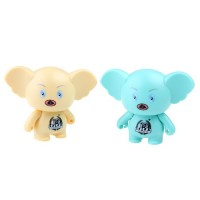 Cute Cartoon Figure Mini Portable Speaker TF Card Slot Yellow/Blue