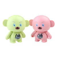 Cute Cartoon Figure Mini Portable Speaker TF Card Slot Pink/Green