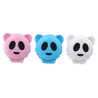 Cute Panda Shaped Portable Speaker TF Card Slot