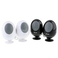 2pcs Egg Shaped Mini Digital Speaker 3.5mm Audio Port