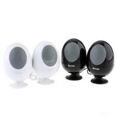 2pcs Egg Shaped Mini Digital Speaker 3.5mm Audio Port